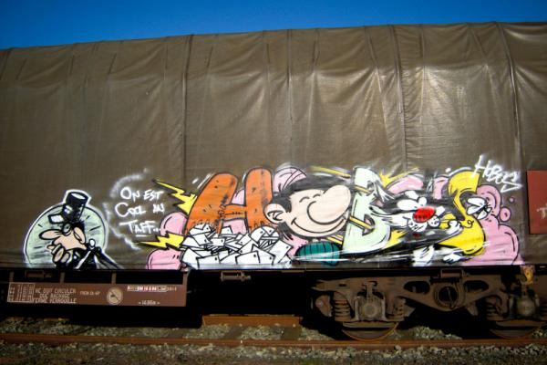 sarah, guilbaud, nantes, streetart, graffiti, trains